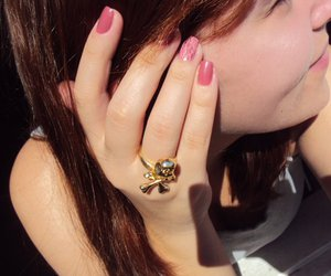 photography, ring, and skull image