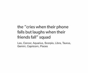 laughs, cries, and zodiac signs image