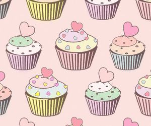 cupcake, wallpaper, and pink image