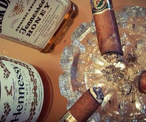 alcohol, cigar, and drink image