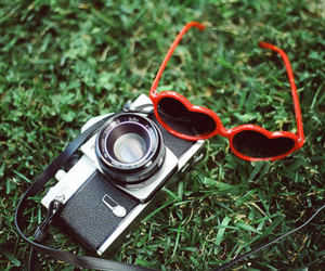 camera, photography, and glasses image
