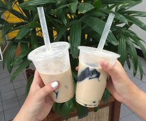 black, boba tea, and emo image