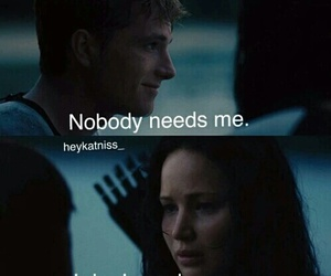 peeta, love, and katniss image