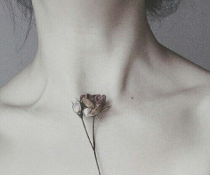 flowers, pale, and skin image