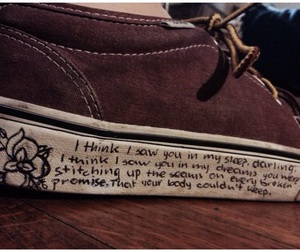 vans, quote, and shoes image