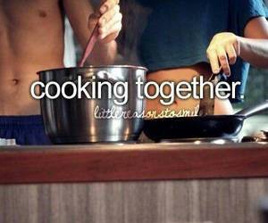 couple, cooking, and love image