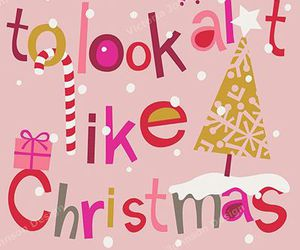 christmas, quote, and pink image