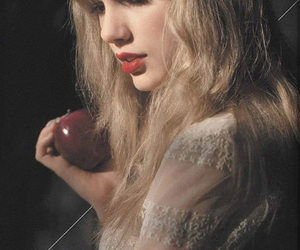 Taylor Swift, red, and apple image