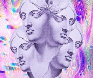 hologram, pastel, and sculpture image