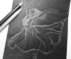 art, ballerina, and draw image