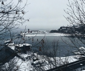 nature, sea, and winter image