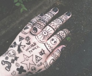 black, grunge, and hand image