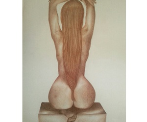 art, artistic nude, and draw image