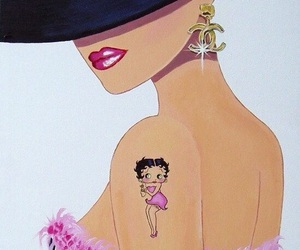 betty boop, fashion, and tattoo image