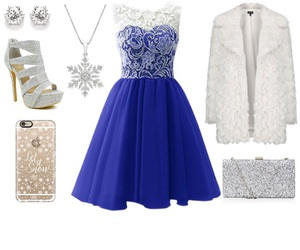 blue, christmas, and clothes image