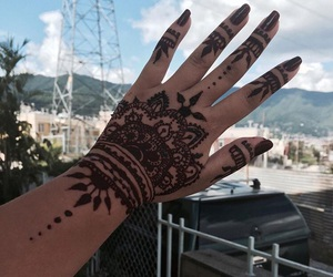 henna, maroon, and hennatattoo image