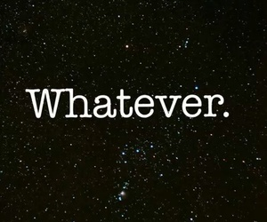 whatever and black image