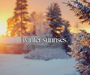 sunrise, winter, and snow image