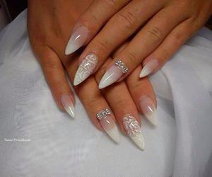 nails, diamond, and fashion image