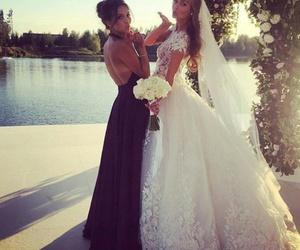 girl, wedding, and wedding dress image