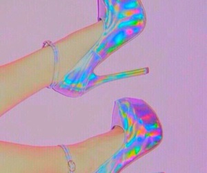beautiful, heel, and silver image