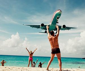 beach, man, and jet image