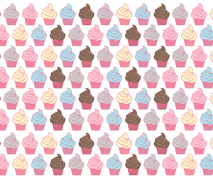 background, cupcake, and pattern image
