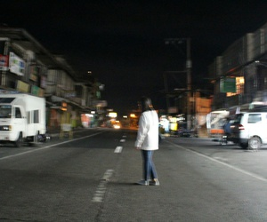 alone, black, and road image