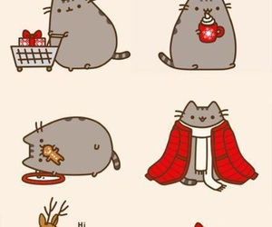 pusheen, christmas, and cat image