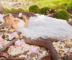 flowers, dress, and fairytale image