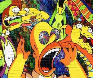 lsd, simpsons, and drugs image