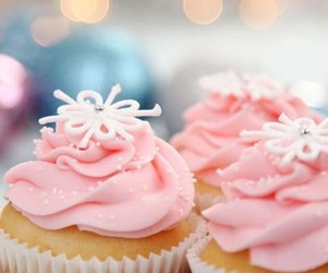 cupcake, pink, and christmas image