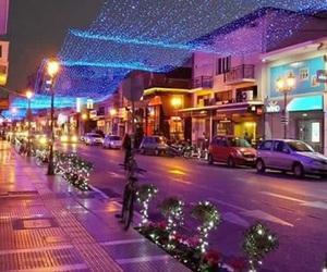 blue, christmas, and lights image