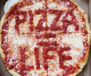 food, pizza, and life image