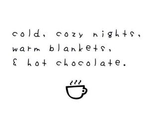 quotes, winter, and hot chocolate image