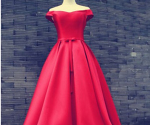 Prom, prom dress, and red prom dress image