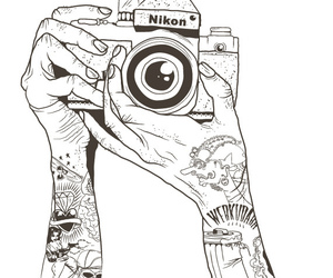 nikon, tattoo, and camera image