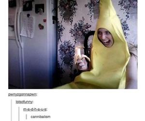 banana, funny, and tumblr image