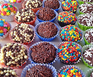 chocolate, candy, and brigadeiros image