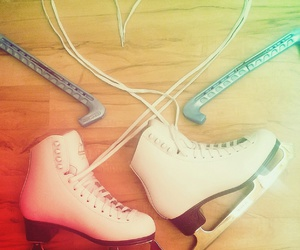 heart, skates, and sparkling image