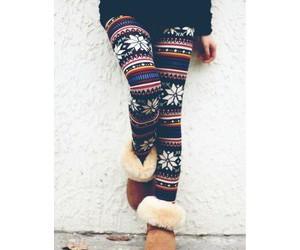 winter, leggings, and uggs image