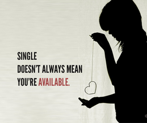 single, quote, and heart image