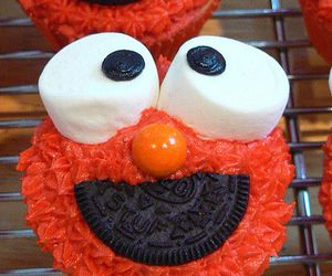 cupcakes, elmo, and monster image