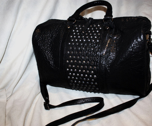 purse, leather, and studs image