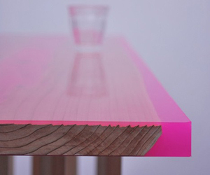 pink, table, and wood image