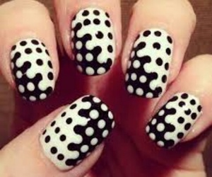 nails, nail art, and black and white image