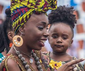 Afro and girl image