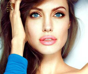 Angelina Jolie, blue eyes, and stunner image