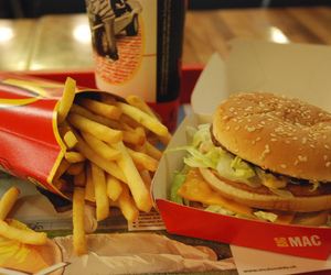 burger, fries, and fastfood image