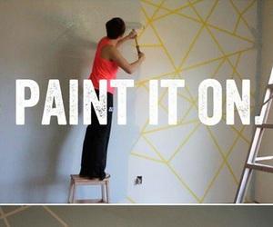 diy, paint, and wall image